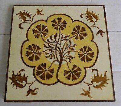 Original  English,Aesthetic Movement tile design from Doulton Lambeth c1880s