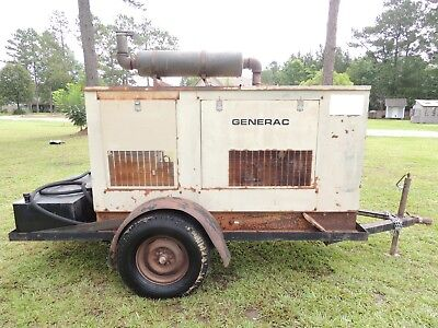 Generac 45KW Portable Trailer Mounted Diesel Generator in Mississippi NO RESERVE