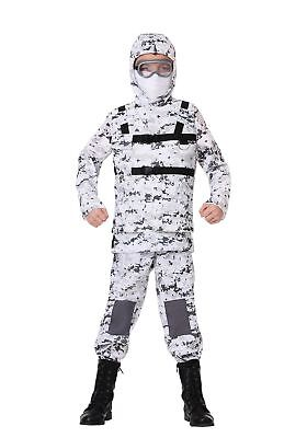 Child Winter Camo Soldier Costume