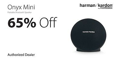 Harman/Kardon Onyx Mini Portable Bluetooth Speaker - Black HKONYXMINIBLKAM