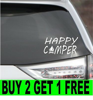 Camping Life Is Better Around The Camp Fire Camper Car Vinyl Decal