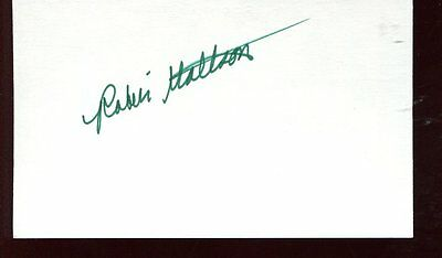 ROBIN MATTSON autograph HAND SIGNED  index card SB181