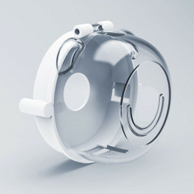 4Pcs White Safety Clear View Stove Knob Hinged Covers Child Proof Oven Guard