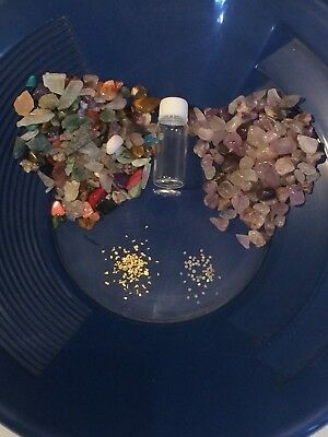 8 oz Diamond Gemstones Gold Paydirt 100% Unsearched and Guaranteed Added GOLD!