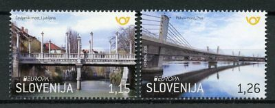 Slovenia 2018 MNH Bridges Europa 2v Set Bridge Architecture Stamps