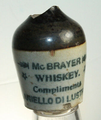 Rare Mini Jug Mc Brayer Whiskey Aniello Di Lustro Pottery Stoneware