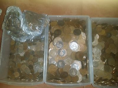 500 bulk lot 500 bronze coins all english british farthings pennies halfpennies