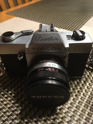 BESELER TOPCON Auto 100 / 35mm Film Camera W/53mm 1:2 Lens In Original Leather