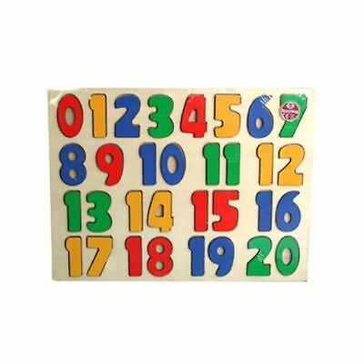 A to Z 123 Wood Puzzle Numbers 18m+