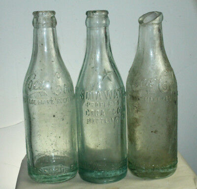 Hosford Fla Coca Cola Straight Side Bottle Lot Of 3