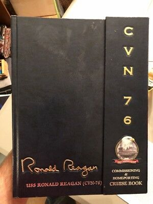 Uss Ronald Reagan Cvn-76 2003-2004 Commissioning-Home Change Maiden Cruise Book