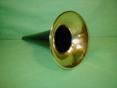 "Edison Columbia Cylinder Phonograph Horn Black Brass  14"" Standard Home Triumph"