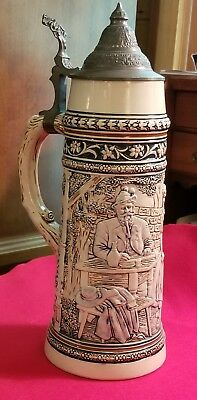 "Vintage 1 1/2 L German Stein, Approximately 13 1/4"" Tall"