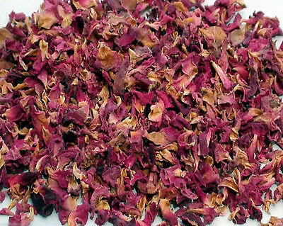 100g Sun Dried Rose Flower Petals Edible Natural Organic Soap Food Free Ship ***