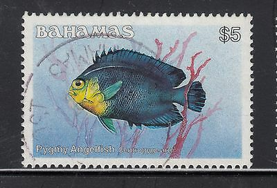 BAHAMAS 1986 $5 Angelfish  VFU..