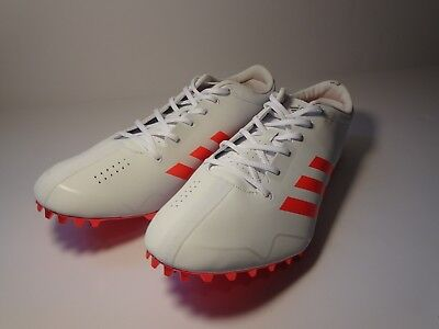 super cute c962b 395f2 Adidas Adizero Prime Sprint SP Spike Track   Field WhIte Orange Size 10.5  BB4117