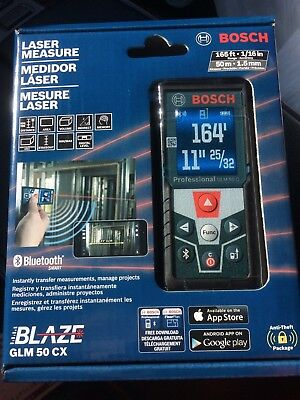 Bosch Blaze GLM 50 CX 165 ft. Laser Measure with Bluetooth! Brand New! $150 MSRP
