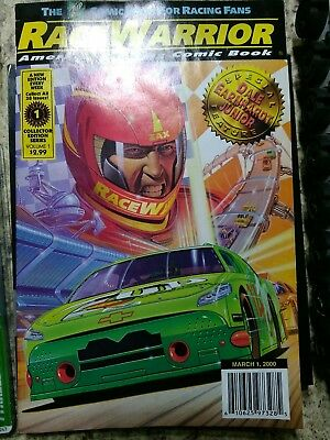 RACE WARRIOR COMIC MARCH 1, 2000 COLLECTORS EDITION SERIES vhtf rare unique