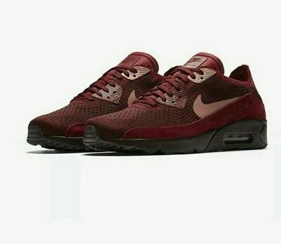54a95e0379647 New Nike Mens Air Max 90 Ultra 2.0 Flyknit Shoes TeamRed 875943-601 Size 10
