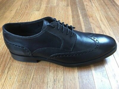d75cebf961b Cole Haan Mens Jay Grand Oxford Wingtip Shoes Size 10 Black Dress Sneakers