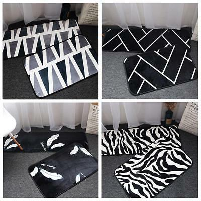 Stripe Rugs European Style Black White Bedroom Mat Floor Rug Living Room Decor
