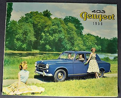1958 Peugeot 403 Sales Brochure Folder Excellent Original 58