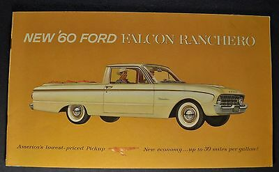 1960 Ford Ranchero Catalog Brochure Excellent Original 60 Not A Reprint