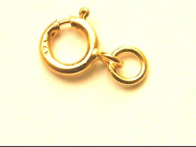 SALE  9ct Yellow Gold 4.5mm Bolt Ring w/Jump Ring Clasp-Necklace-Bracelet 9K