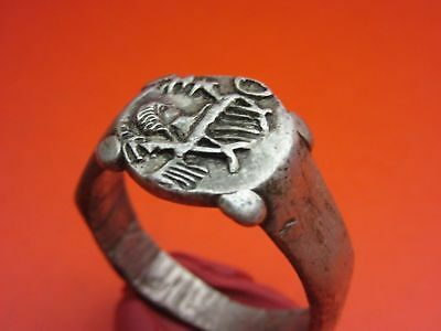 Legionary Ancient Silver Roman Ring *Legio II Augusta*   !!! GREAT RARETY !!!