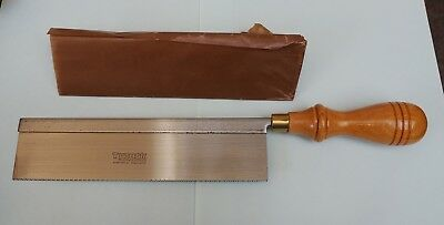 "New/Vintage TYZACK TURNER Steel Back GENTS SAW w 8"" Blade (Dovetail Saw)"