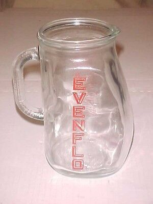 Vintage Evenflo Glass One Quart 32 OZ. Measuring Baby Formula Pitcher VGC
