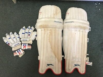 Slazenger Youth Cricket Pads And Gloves