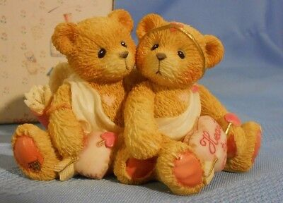 Cherished Teddies Valentine 1994 Heart to Heart Winged Bears with Heart 869082