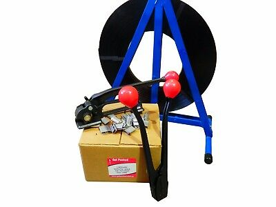 Steel Strapping Kit - 19mm - Inc Metal Strapping, seals, tensioner, sealer, disp