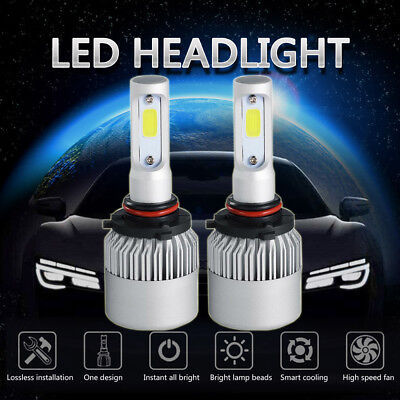 CREE COB LED 9006 HB4 6000K White Headlight Light Bulb Conversion Kit Low Beam