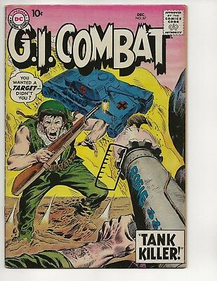 G.i.combat #67 Fn+ (Key Issue) First Tank Killer Early Silver Age 1958 Dc Comics