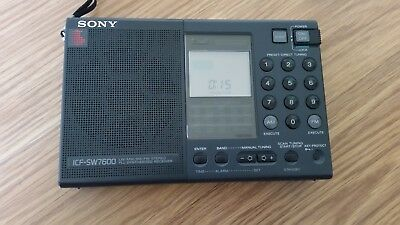 Vintage SONY ICF-SW7600 FM Stereo - World Band Receiver Radio -Fully Functional