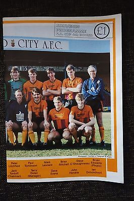 1987/88 BRADFORD CITY v OXFORD UNITED FA Cup match programme 30.1.1988