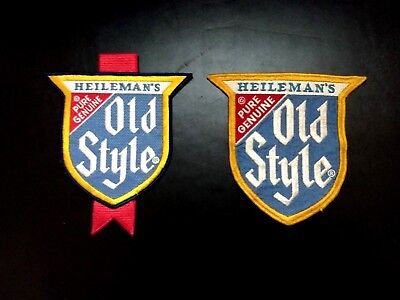 Vintage Large Heileman's Old Style Beer Patches