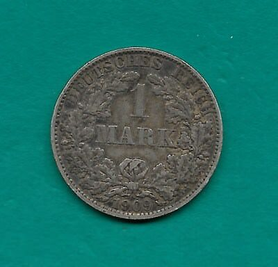 1909-A German Empire 1 Mark Silver Vintage Wilhelm II 24mm Germany Coin