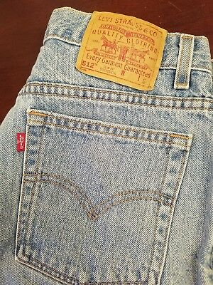 b49fed7c533 Levis 512 Slim Fit Tapered Leg High Waist Mom Jeans Made in USA 14 Mis S