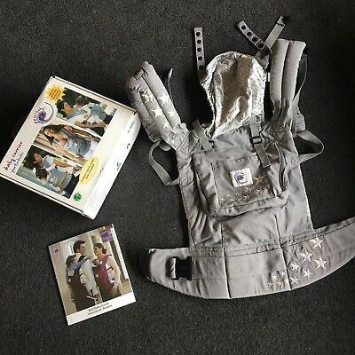 Ergo Baby original carrier Galaxy Grey with standard infant insert Exc condition