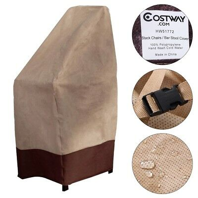 Waterproof Bar Stool Cover Outdoor Patio Garden Furniture Protection Travel Home