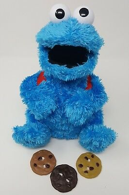 Cookie Monster Count Crunch Complete 3 Cookies Hasbro Back pack Plush Works Rare
