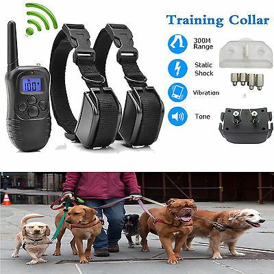 Rechargeable LCD Electric Shock E-Collar Remote Control Dog Training Anti-Bark L