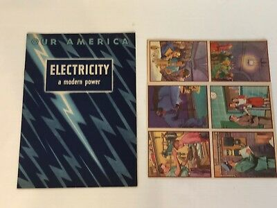 1943 Coca Cola Our America School Booklet Electricity Power Book And Stamps