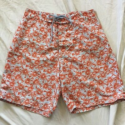 c651a4af34 MEN'S BOARD SHORTS Large (36-38) Gray Red Flowered Lined L Sand n ...