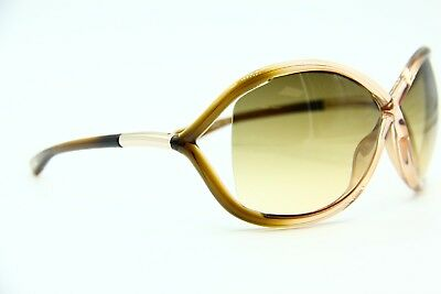 fb2311f8d5 Tom Ford Tf 9 74F Whitney Brown Gradient Authentic Sunglasses 64-14 W case