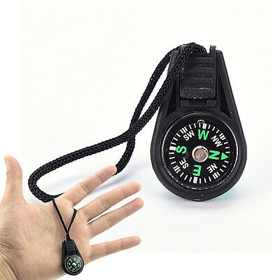 Portable Compass Brunton Camping Hiking Hunting Outdoor Sport Keychain Ring EF