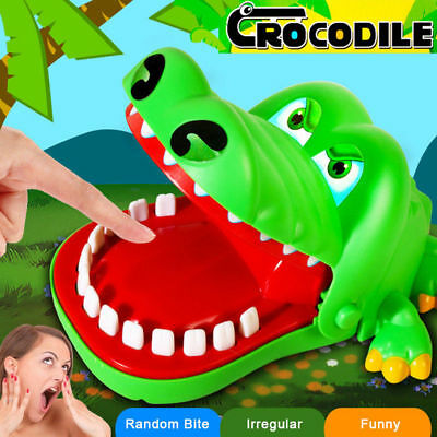 Cute Large Crocodile Mouth Dentist Bite Finger Game Kids Children Funny Toy Gift
